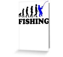 Fishing Evolution Greeting Card