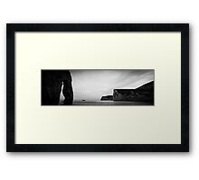 England Panorama BW - Duddle Door Framed Print