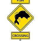 Fish Crossing Sign by kwg2200