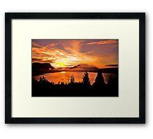 Sunrise Mt MAXWELL, Maple Bay, BC, Canada Framed Print