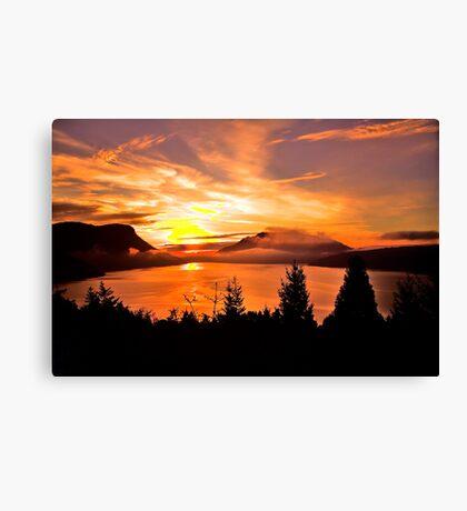 Sunrise Mt MAXWELL, Maple Bay, BC, Canada Canvas Print