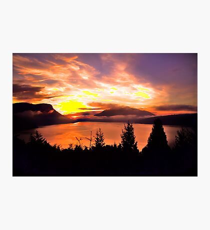 Sunrise Mt MAXWELL, Maple Bay, BC, Canada II Photographic Print