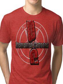Demented Cartoons Logo Tri-blend T-Shirt