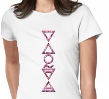 FOUR ELEMENTS PLUS ONE V  - pink church Womens Fitted T-Shirt