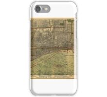 Maps Bird's eye view of Chicago iPhone Case/Skin