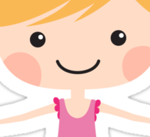I love gymnastics cute blond cartoon girl doing the splits Sticker