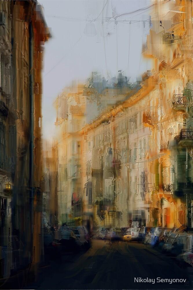 Old Moscow lane by Nikolay Semyonov