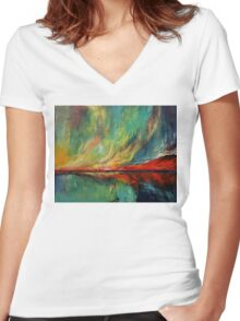 Aurora Women's Fitted V-Neck T-Shirt