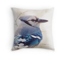 Blue on a Gray Day Throw Pillow