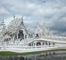 The Beautiful White Temple of Chiang Rai by Norma Jean Lipert