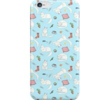White Cats Are Everywhere iPhone Case/Skin