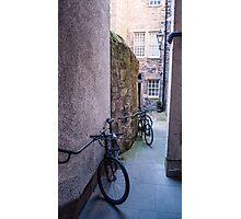 Bicycles in Edinburgh Photographic Print