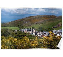 View Over Holyrood Palace Poster