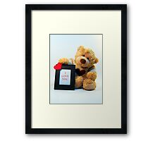 Bubby Bear Loves You Framed Print