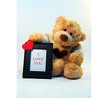Bubby Bear Loves You Photographic Print