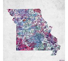 missouri map cold colors Photographic Print