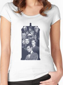 All of the Doctors in the TARDIS Women's Fitted Scoop T-Shirt