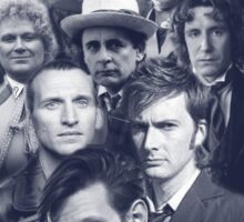 All of the Doctors in the TARDIS Sticker