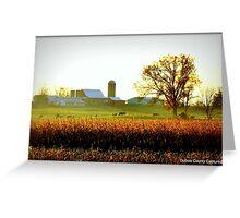 Sunrise over Duff farm Greeting Card