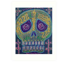 Great Electric Skull Art Print