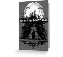 Batcave Bootcamp (Gray) Greeting Card