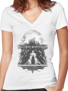 Batcave Bootcamp (Light) Women's Fitted V-Neck T-Shirt