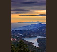 View of Plastiras lake from Pelekiti monastery Unisex T-Shirt