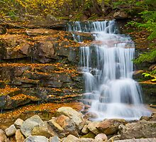 Stairs Falls - Falling Waters Trail, Little Haystack Mountain - Franconia Notch, NH 10-04-13 by David Lipsy