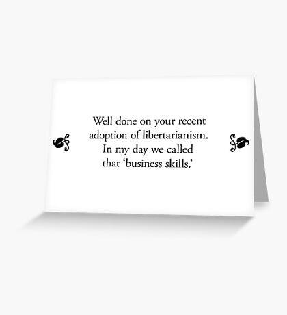 Boomer Cards - Libertarian Greeting Card