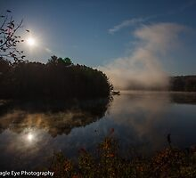 A Reflective Morning - Merrimack River, Bow Junction - Bow, NH 10-21-13 by David Lipsy