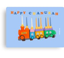 Chanukiyah Greeting Card Canvas Print