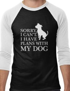 Sorry, I Can't. I Have Plans With My Dog. Pitbull T-shirt Men's Baseball ¾ T-Shirt