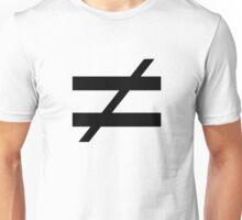 Not Equals Unisex T-Shirt
