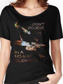 Star Trek No-Win Scenario Paint Splatter Women's Relaxed Fit T-Shirt