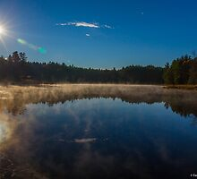 A Reflective Morning on the Pond - Bow Town Pond - Bow, NH 10-23-13 by David Lipsy