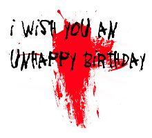 Unhappy Birthday Photographic Print