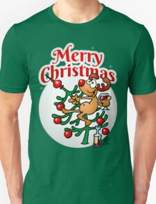 Reindeer in a Christmas tree Unisex T-Shirt