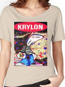 New York City Subaway Graffit Art Map Krylon Women's Relaxed Fit T-Shirt
