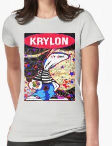 New York City Subaway Graffit Art Map Krylon Womens Fitted T-Shirt