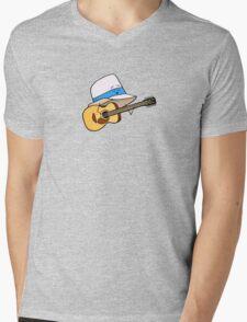 Fedora Crooner Mens V-Neck T-Shirt