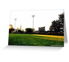 Ruxer Baseball Field in Jasper Greeting Card