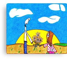 Daisies from Daddy Canvas Print