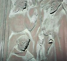 Relief on bronze door of Siena cathedral Siena, Italy by buttonpresser