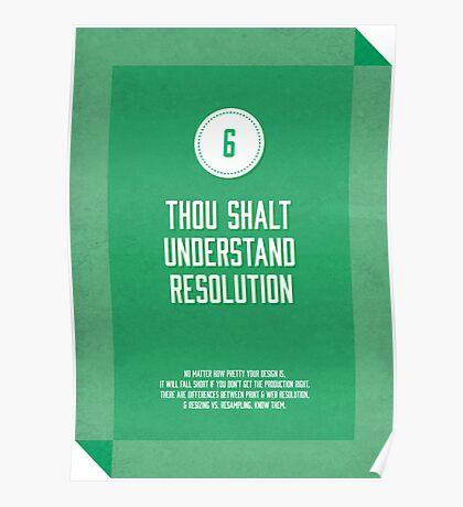 Commandment #6 of graphic design Poster