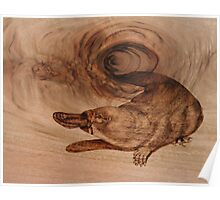 PYROGRAPHY: Platypus Poster