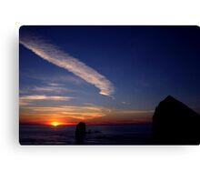 CANON BEACH SUNSET~ Canvas Print