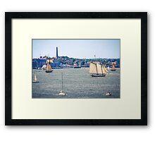 Boston Harbor, Massachusetts Framed Print