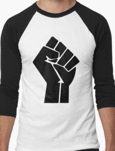 Raised Fist / Black Power Symbol Men's Baseball ¾ T-Shirt