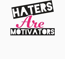 Haters Are Motivators (Black, Pink) Womens Fitted T-Shirt
