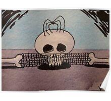Spider & Skull Poster